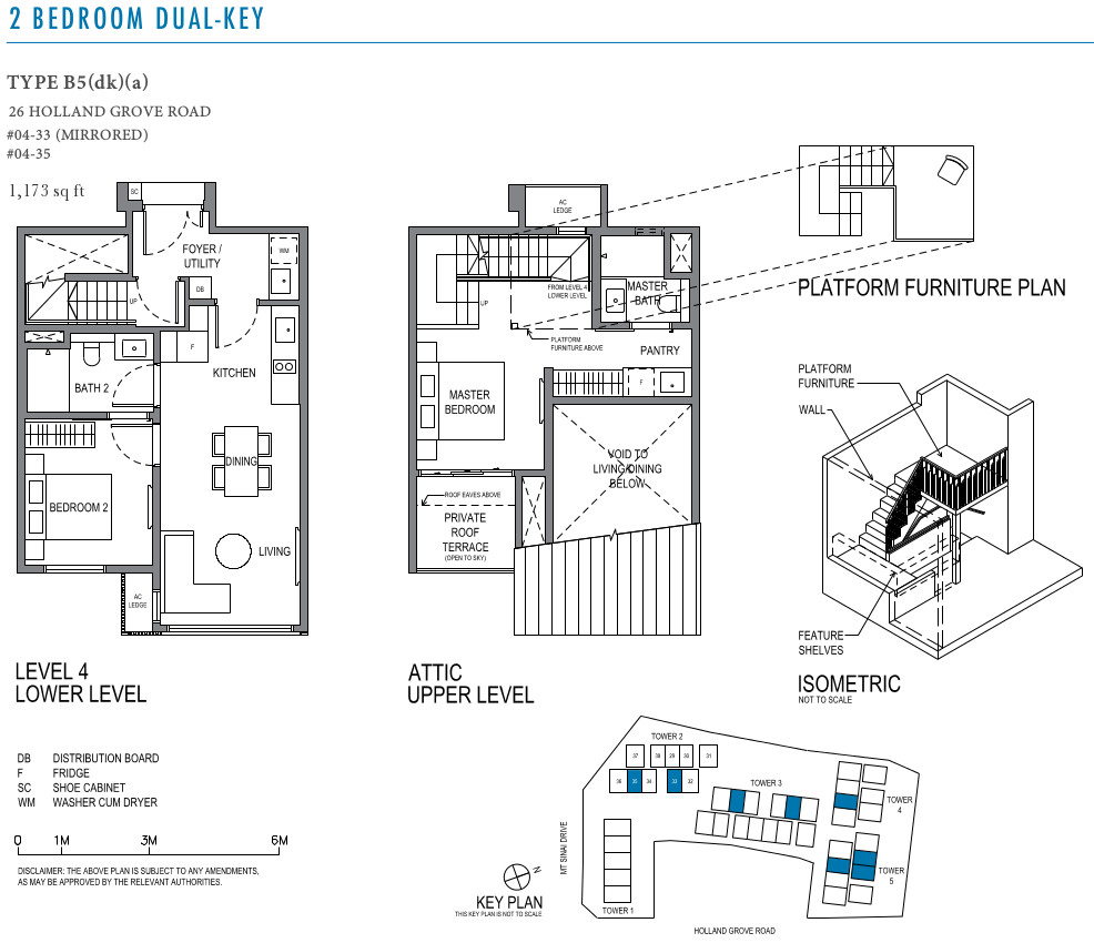 Park Suites Floor Layout Plan 2BR Dual Key Type B5(dk)(a)