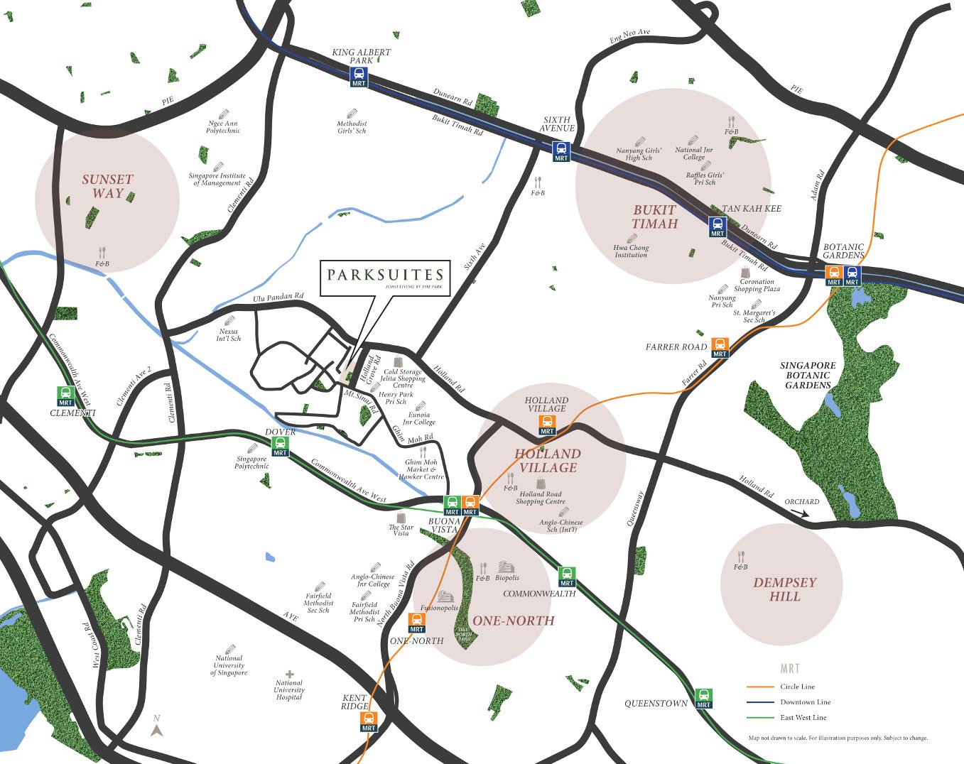 ParkSuites Location Map