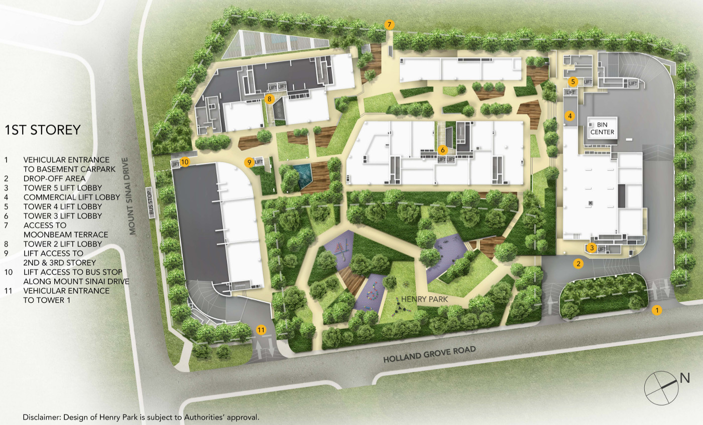 ParkSuites Site Plan 1st Storey Layout
